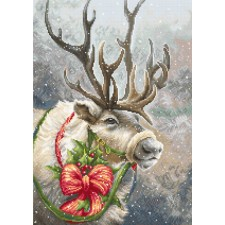 Cross stitch kit Christmas Deer - Luca-S