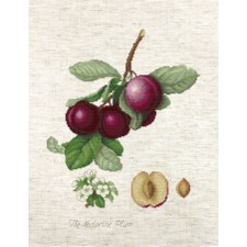 Cross stitch kit The Nectarine Plum