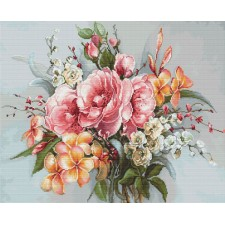 Cross stitch kit Flower Bouquet - Luca-S