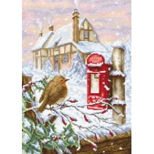 Cross stitch kit Red Mailbox - Luca-S
