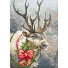 Petit Point stitch kit Christmas Deer - Luca-S