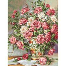 Petit Point stitch kit Posies for the Princess - Luca-S