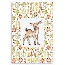 Cross stitch kit Deer - Luca-S
