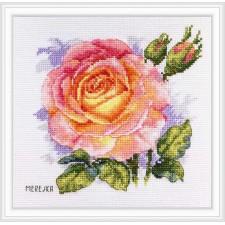 Cross stitch kit Rose - Merejka