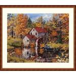 Cross stitch kit Watermill - Merejka