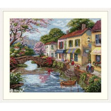 Cross stitch kit Quaint Village Shops - Merejka