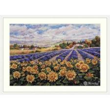 Cross stitch kit Fields of Lavender and Sun - Merejka