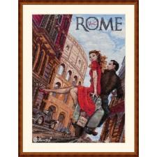 Cross stitch kit Visit Rome - Merejka