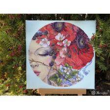 Cross stitch kit She Sleeps - Merejka