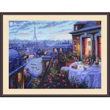 Cross stitch kit Paris Evening Deja Vu - Merejka