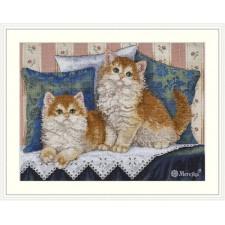 Cross stitch kit Fluffy Fellows - Merejka