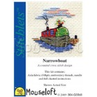 Cross stitch kit Narrowboat