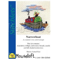 Cross stitch kit Narrowboat