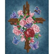 Diamond Dotz Flower Cross