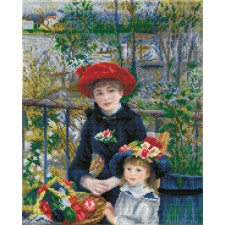 Diamond Dotz Two Sisters on the Terrace ((après Renoir)