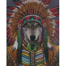 Diamond Dotz Wolf Spirit Chief - Needleart World