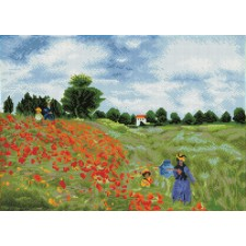 Diamond Dotz Poppy Fields (après Monet) - Needleart World