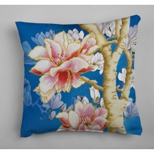 Diamond Dotz Magnolias on blue 2