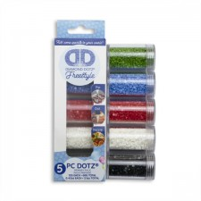 Diamond Dotz Dotz in Cylinders 5x 12 g - Primary - Needleart World