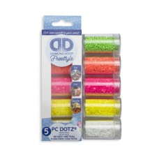 Diamond Dotz Dotz in Cylinders 5x 12 g - Neon - Needleart World