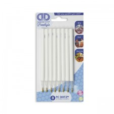 Diamond Dotz White Styluses with Blue DD logo - 8 pieces - Needleart World