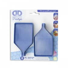 Diamond Dotz Blue Trays with pouring lip - 8 pieces