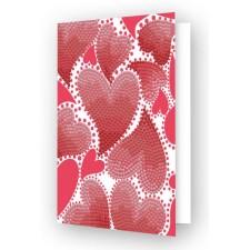 Diamond Dotz Greeting Card Hearts Swirl - Needleart World