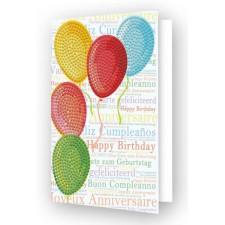 Diamond Dotz Greeting Card Balloons on High - Needleart World