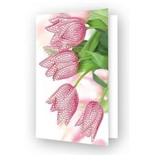 Diamond Dotz Greeting Card Romantic Tulips - Needleart World