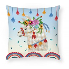 Diamond Dotz Llama Party Mini Pillow