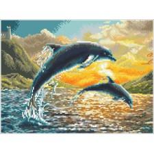 Diamond Dotz Dolphin Sunset - Needleart World