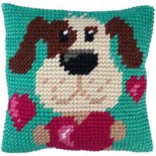 Cushion cross stitch kit With all my Heart - Needleart World