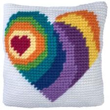 Cushion cross stitch kit Wishing Heart - Needleart World