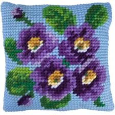 Cushion cross stitch kit Primrose Bouquet - Needleart World