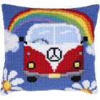 Cushion cross stitch kit Holiday Adventure - Needleart World