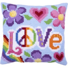 Cushion cross stitch kit Love Always - Needleart World