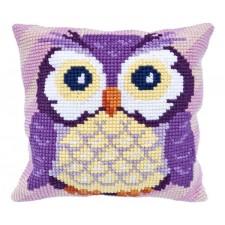 Cushion cross stitch kit Owl - Needleart World