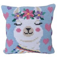 Cushion cross stitch kit Lama - Needleart World