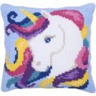 Cushion cross stitch kit Unicorn - Needleart World