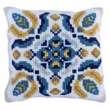 Cushion cross stitch kit Corn Field - Needleart World