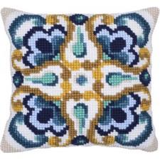 Cushion cross stitch kit Siena Tile - Needleart World