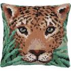 Cushion cross stitch kit Leopard watch - Needleart World