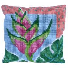 Cushion cross stitch kit Paradise Bloom - Needleart World
