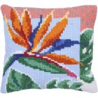 Cushion cross stitch kit Bird of Paradise - Needleart World