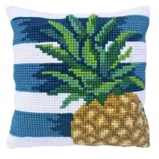 Cushion cross stitch kit Pine Lime - Needleart World