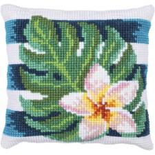 Cushion cross stitch kit Frangipanni Shade - Needleart World