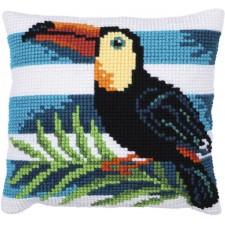 Cushion cross stitch kit Toucan Journey - Needleart World