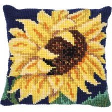 Cushion cross stitch kit Sun Bloom - Needleart World