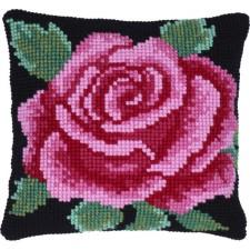 Cushion cross stitch kit Classical Rose - Needleart World