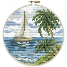 Pre-printed cross stitch kit Sailing Away - Needleart World
